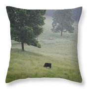 Alone In The Meadow Throw Pillow