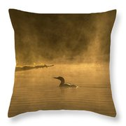 Alone In The Morning Fog Throw Pillow