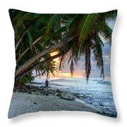 Alone On The Beach 2 Throw Pillow