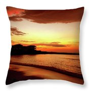 Alone On The Beach Throw Pillow by Kamil Swiatek