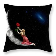 Alone On The Clouds Throw Pillow