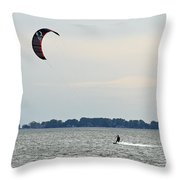 Alone On The Water Throw Pillow
