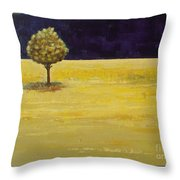 Alone In The Night Throw Pillow