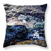Alone With Sea Throw Pillow