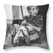 Balinese Old Woman Throw Pillow