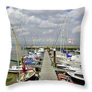 Along C Pontoon In Ryde Harbour Throw Pillow