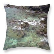 Along Coki Beach Throw Pillow