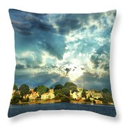 Along The North Shore - Ma Throw Pillow