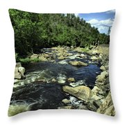 Along Rt3 New York Throw Pillow