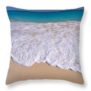 Along Shoreline Throw Pillow