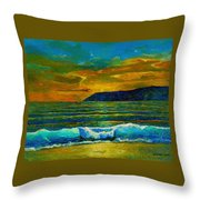 Along The African Coast Throw Pillow