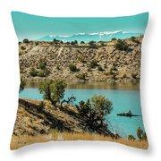 Along The Banks Of The Arkansas River Throw Pillow