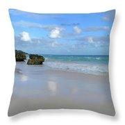 Along The Beach Throw Pillow
