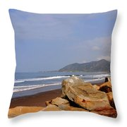 Along The Californian Coast Throw Pillow