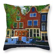 Along The Canal Throw Pillow