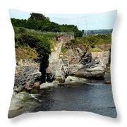 Along The Cliff Walk Trail Throw Pillow