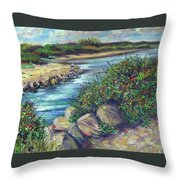 Along The Connecticut Shore Throw Pillow