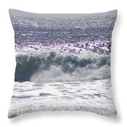 Along The Costal Highway Throw Pillow