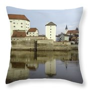 Along The Danube Throw Pillow