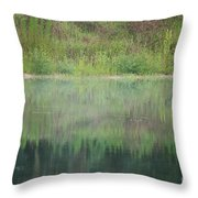 Along The Edge Of The Pond Throw Pillow