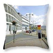 Along The Esplanade At Sandown Throw Pillow
