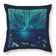 Along The Hamakua Coast  Throw Pillow
