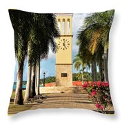 Along The Hands Of Time Throw Pillow