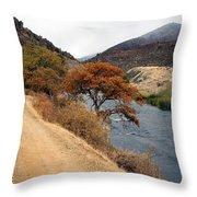 Along The Kalamath - Oregon Throw Pillow