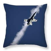 Along The Line Throw Pillow