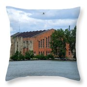 Along The Maumee Throw Pillow
