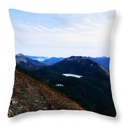 Along The Mt Defiance Trail Throw Pillow