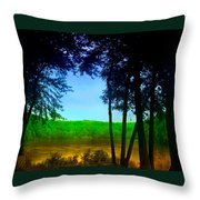 Along The Muddy River Throw Pillow