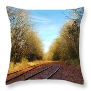 Along The Old Railroad  Throw Pillow