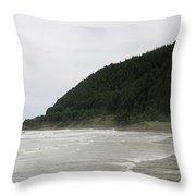 Along The Oregon Coast - 4 Throw Pillow