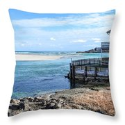 Along The Peaceful Shores  Throw Pillow