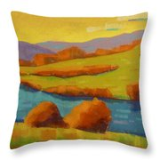 Along The River In Steamboat Springs II Throw Pillow