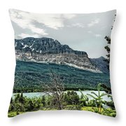 Along The Road To Many Glacier 4 Throw Pillow