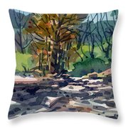 Along The Russian River Throw Pillow