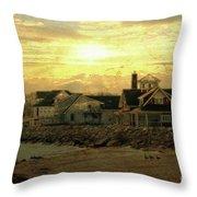 Along The Shores Throw Pillow