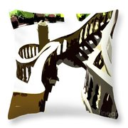 Along The Spiral Stairway Throw Pillow
