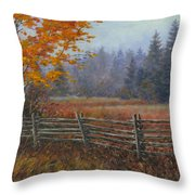 Along The Stoney Batter Road Throw Pillow by Richard De Wolfe