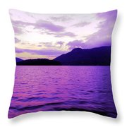 Along The Sunshine Coast Throw Pillow