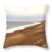 Along The Tide Line Throw Pillow
