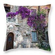 Along The Via Appia Antica Throw Pillow