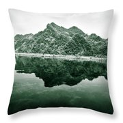Along The Yen River Throw Pillow