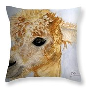 Alpaca Cutie Throw Pillow