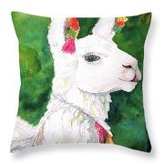 Alpaca With Attitude Throw Pillow by Carlin Blahnik CarlinArtWatercolor