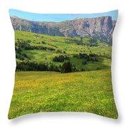Alpe Di Siusi - Dolomiti Throw Pillow