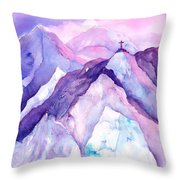 Alpenglow In The Alps Throw Pillow