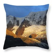 Alpenglow On The Swiss Alps Near Murren Throw Pillow